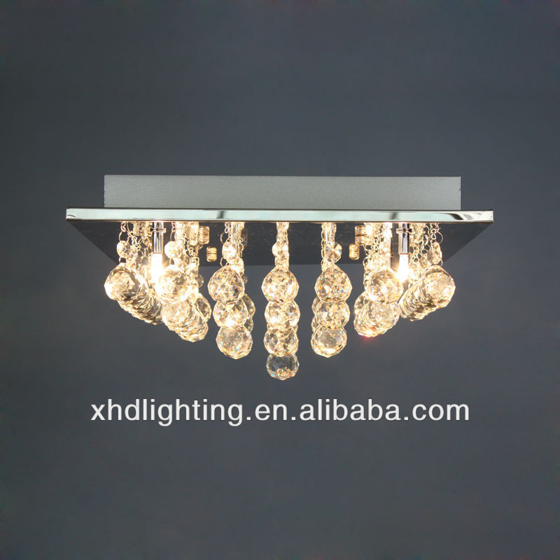 glass crystal ceiling lamp/energe saving / G4 hotel decorative
