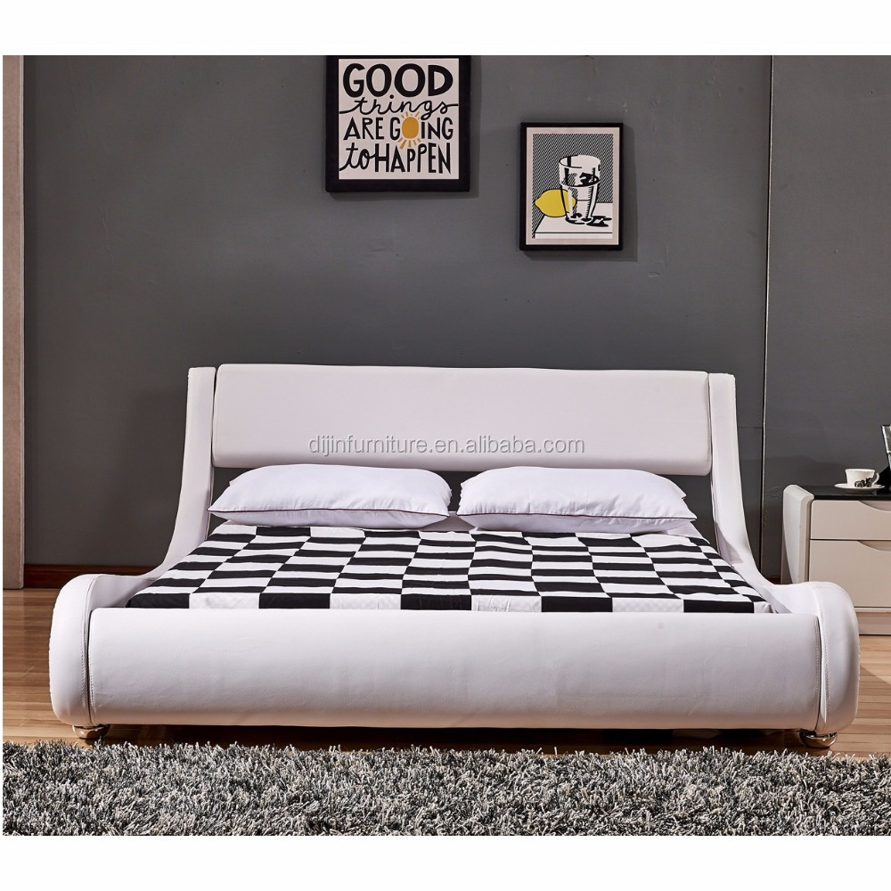 2018 modern high end double queen size luxury pu leather bed bedroom design
