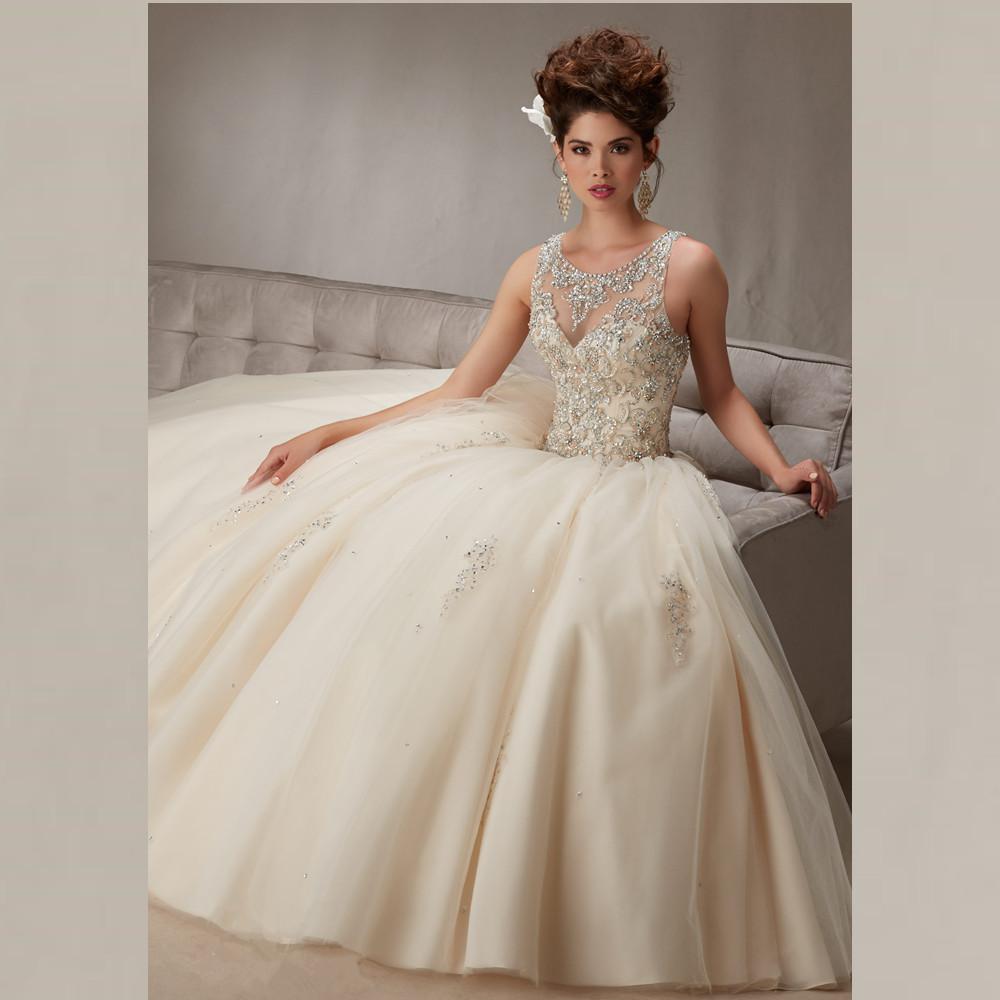 Beaded Cheap Organza Beach Wedding Dresses China Ball Gown: Aliexpress.com : Buy Crystal Beaded Scoop Neckline Open