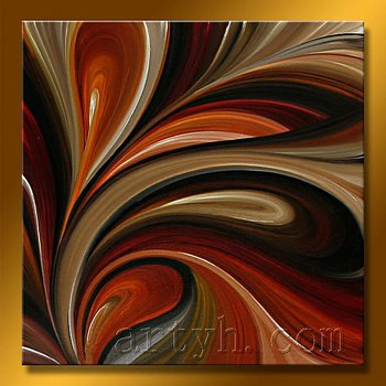 Bright oil painting modern abstract art picture on canvas