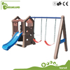High Quality Kindergarten plastic slide and swing set