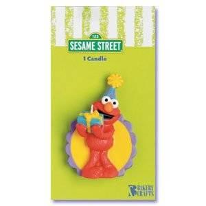 Get Quotations Sesame Street Elmo Cake Candle
