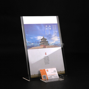 Custom clear magnetic acrylic menu holder/ brochure holder/ acrylic sign holder