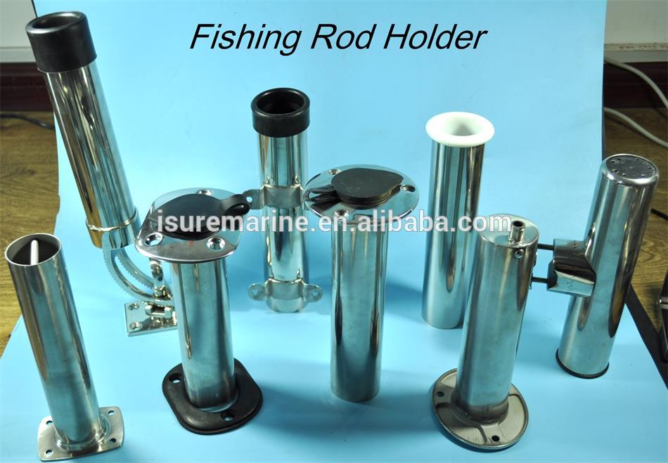 Yacht stainless steel fishing rod holder with cup holder