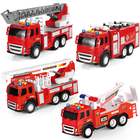 kinds of creativity for children toys hobbies electric diecast model car plastic friction fire trucks toy rescue vehicle trailer