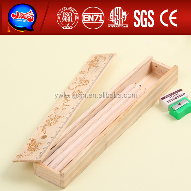 2014 new wooden pencil box pencil case plastic pencil case