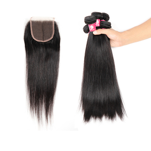 All types of virgin peruvian malaysian indian filipino straight hair closure brazilian straight hair with closure
