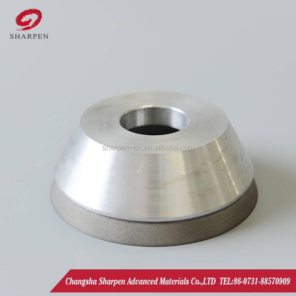 12V2 Dish shape Hypotenuse diamond grinding wheel CBN grinding wheels