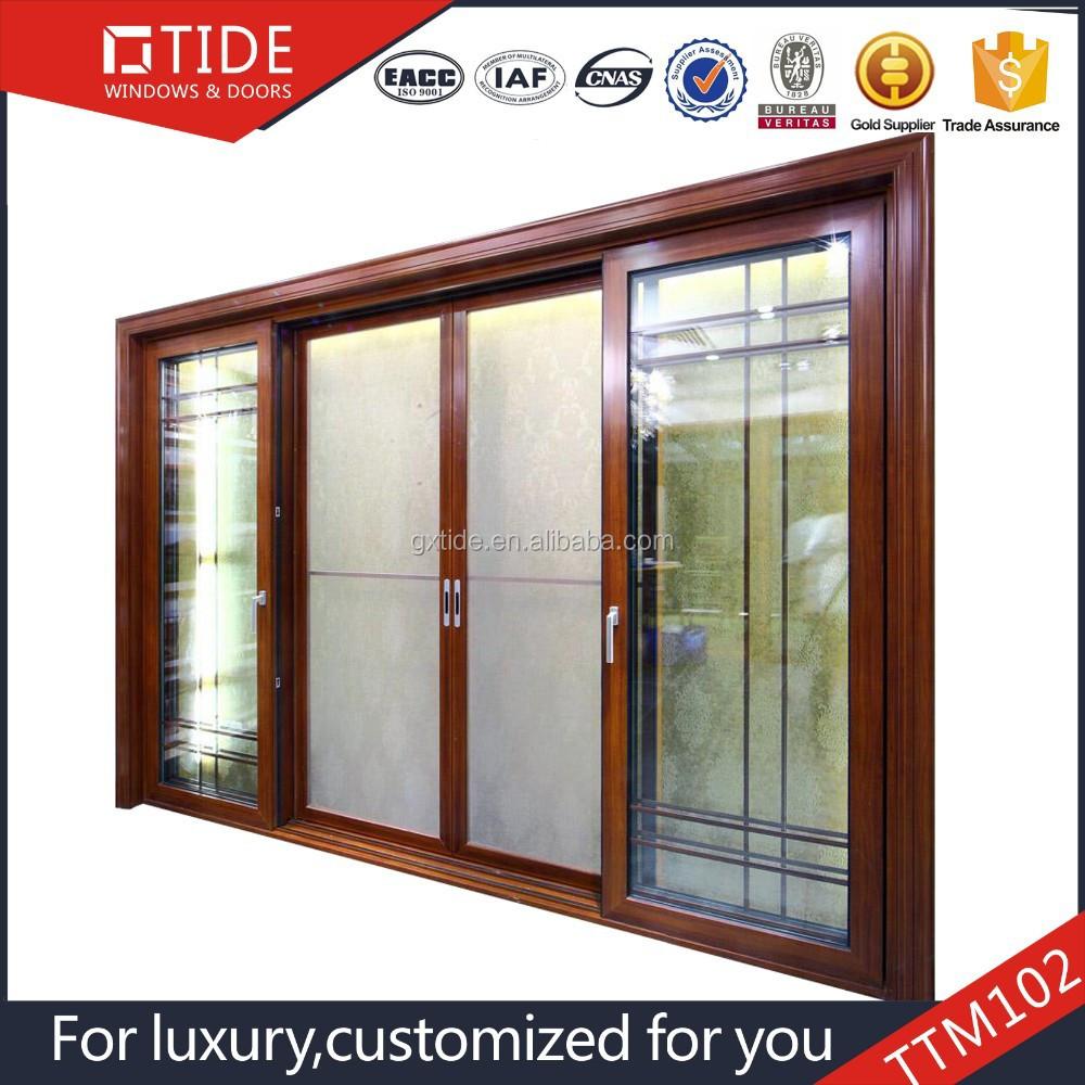 Decoraci n interior doble pistas puertas correderas y for Puertas dobles de madera interior