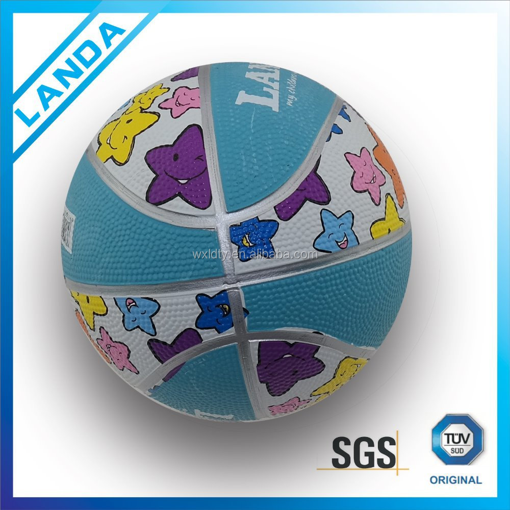 Customized printed logo mini basketball