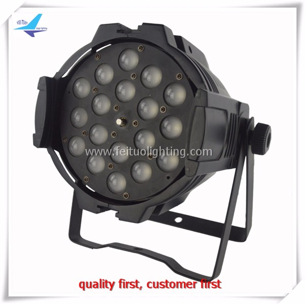 High brightness 18 pieces 10 watt 4in1 led par zoom nightclub lighting slim led par 64