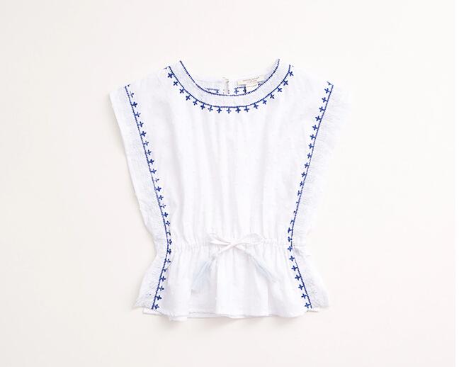 Girl Fashion Design Top Stitch Embroidery Stylish Girls Top Wear Top