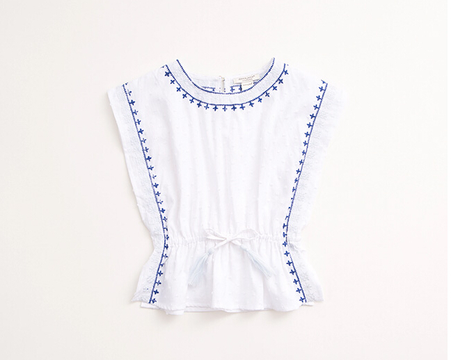Girl Latest Design Top Stitch Embroidery Stylish Girls Top Wear Top