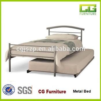 Goedkoop Metalen Bed.Eenvoudige Ontwerp Goedkope Metalen Bed Met Onderschuifbed Bed Buy