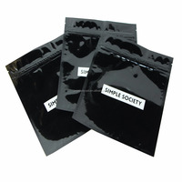 custom printed black cables packaging aluminum foil zip lock resealable electronics components bag