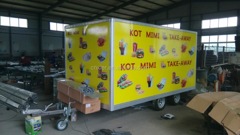 Fastfood Keuken Inrichting : Fast food aanhanger mobiele keuken, voedsel trailer