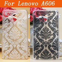 Stock Lenovo A606 Vintage Flower Painting Phone Case  For Lenovo A 606 Hard Back Plastic phone shell bag case