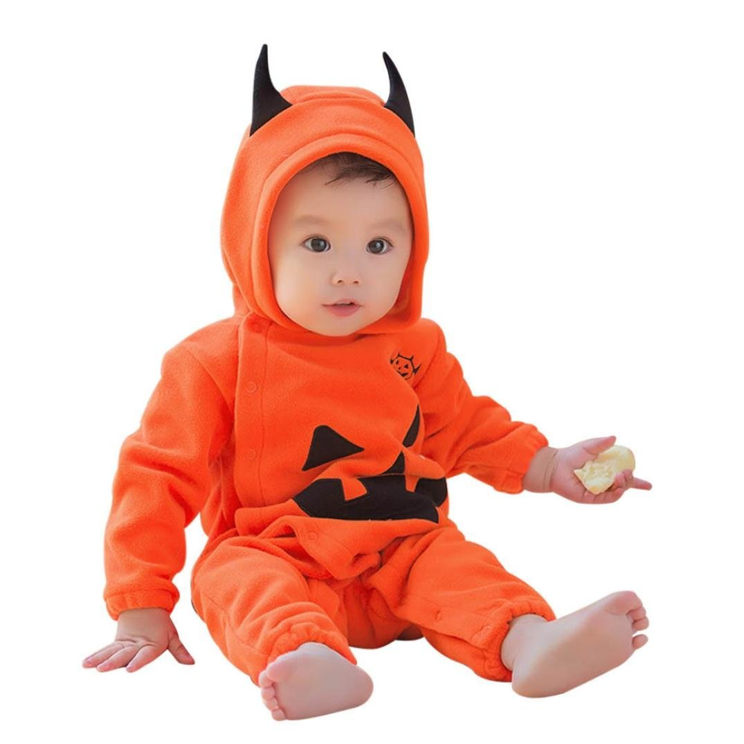 Halloween Baby Girls/Boys Clothes, Leewa@ Long Sleeve Hooded Romper Jumpsuit Fancy Outfits