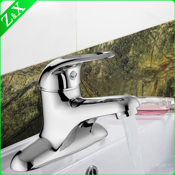 brass single handle lavatory water mixer basin faucets