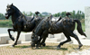 New products bronze double horse statue for sale on china market