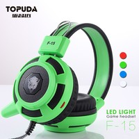 Mobile phone accessories professional led vibration gaming headset for tablet pc