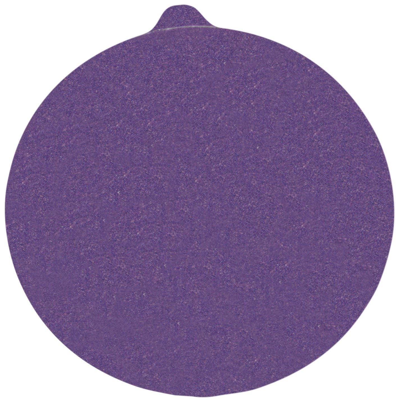 "3M Stikit Paper Disc 735U with Tab, C Weight Paper, PSA Attachment, Ceramic, 5"" Diameter, P120 Grit (Pack of 50)"