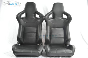 Black leather adjustable universal racing car seats AD-2 car racing seats