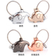engraved Logo brand name cute lover couple kissing elephant keychain