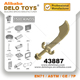 Plastic building blocks Minifig, Weapon Sword, Scimitar (NO. 43887)