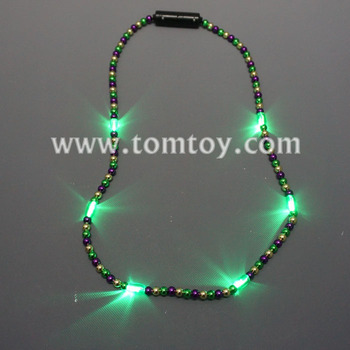 Mardi Gras Led Beads Necklace