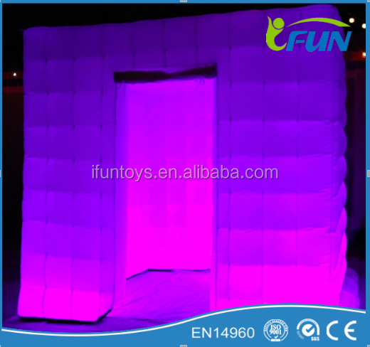 Inflatable photo booth with camera 2015 /LED cheap inflatable photo booth /portable inflatable photo booth with LED