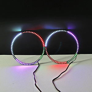 bluetooth control color changing 12v 24v horse race lamp angel eyes led halo rings for universal cars