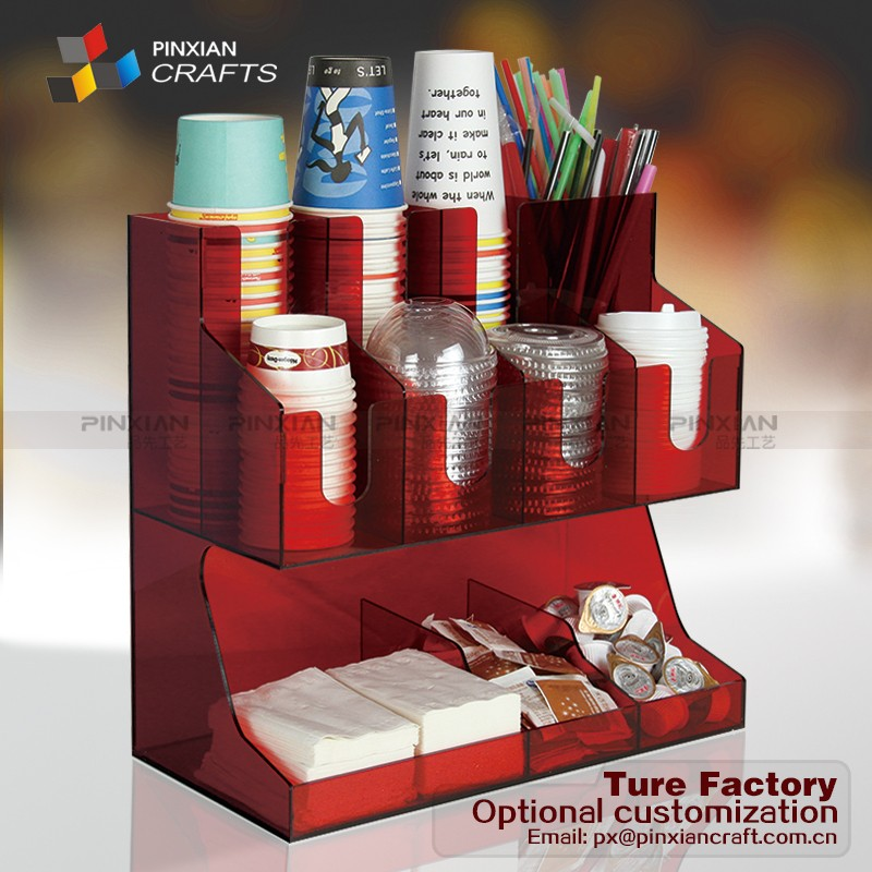 Supermarket Pop Display Stand Wooden Tea Bag Coffee Rack Bamboo Condiment Organizers High Quality