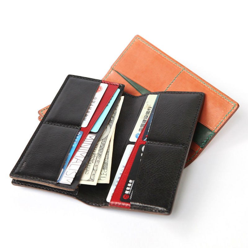 Orange/Black Genuine Leather Wallet ML9A104 MINIMALISM Cowhide From Italy Genuine leather Wallet/Card Holder Double Colored