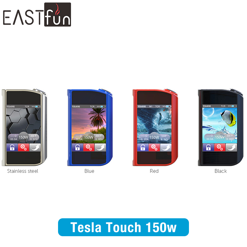 Eastfun Wholesale Original Tesla Touch 150W Vape Mod With 7~150w Teslacig E Cigarette