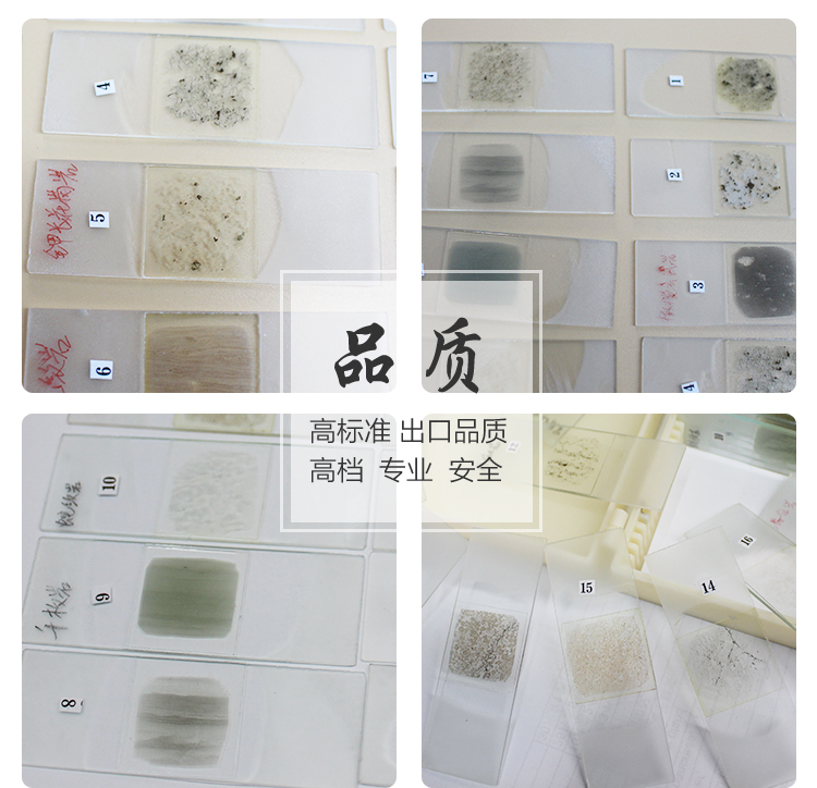 24pcs wooden slides Geography rock microscope slides specimen