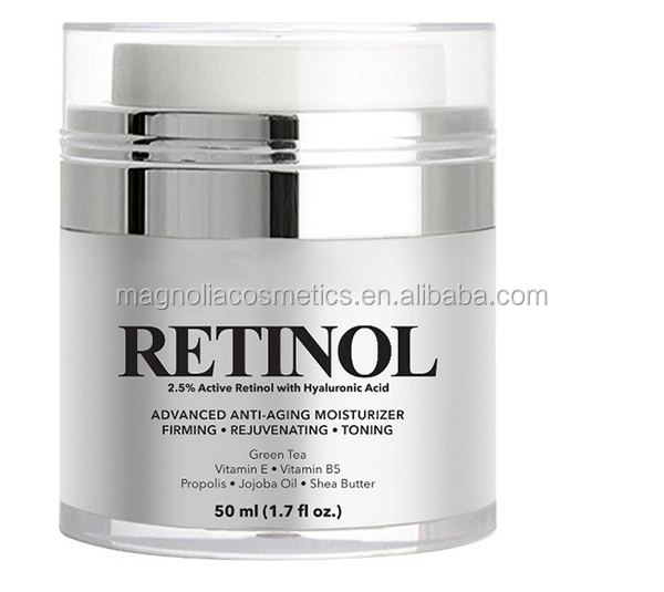 Private Label Anti Wrinkle Retinol Cream With Hyaluronic Acid