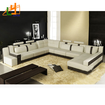 European Style 8 Seater Sectional U Shaped Drawing Room Couch Set ...
