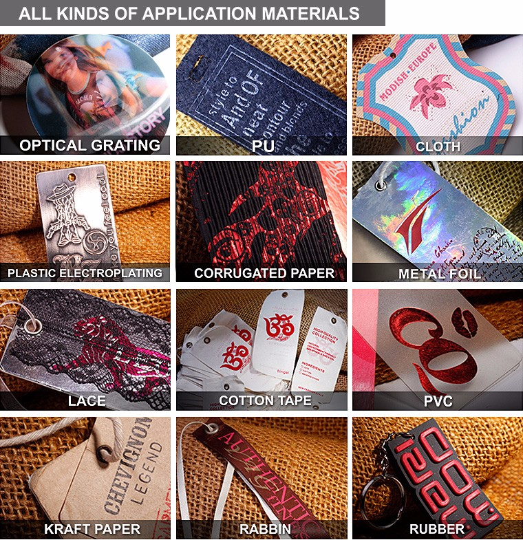 Custom logos hang tag famous brands for garment