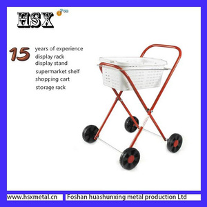 supermarket folding metal trolley 50x40x20 for boats kitchen HSX-Z-523