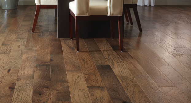 Oiled Hickory Rustic Hand Scraped Solid Engineered Hardwood Wood Flooring