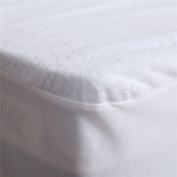 White Terry Cotton Full Size Fitted Sheet Deep Pocket Waterproof