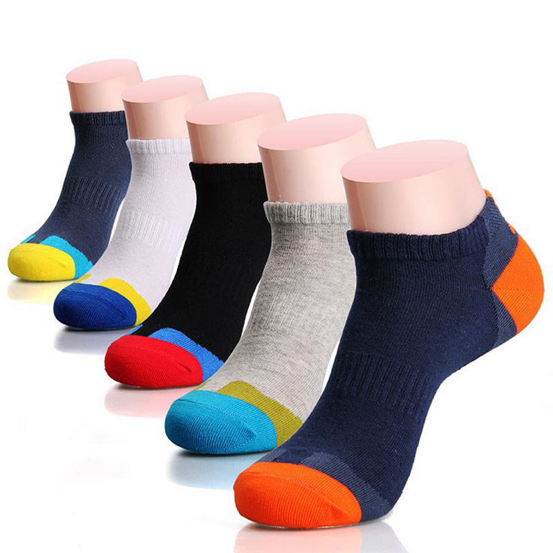 Hot-selling new casual men Basketball sports socks brand man fashion Colorful polo socks cotton Mens Business socks 5 colors