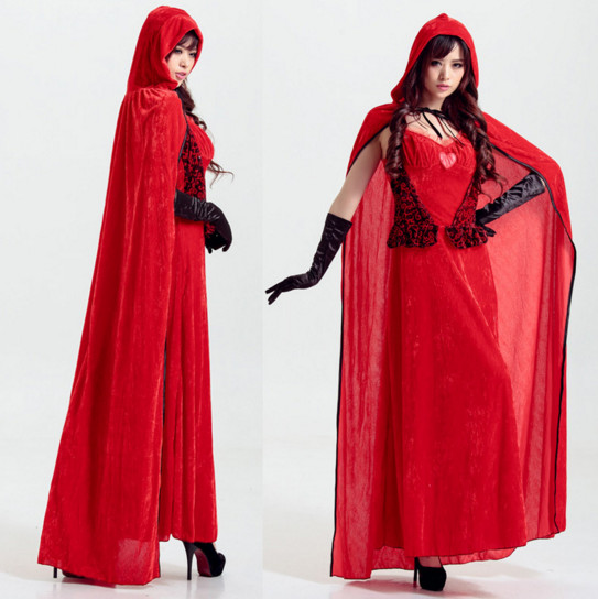 Halloween costume sexy lady little red riding hood cosplay suit fancy dress