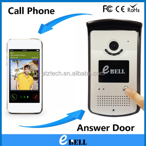 atz ebell 2 Way Audio Doorbell Speaker Camera with Network IP Camera Real Time Video Talking Doorphone