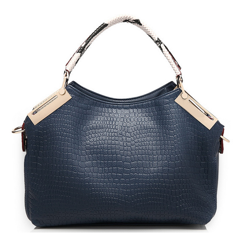 The new leather handbag Fashion one shoulder bag woman ms messenger bag designer handbags crocodile grain bag bolsa feminina