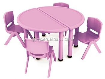 Paars halve cirkel kinderen studie tabelontwerp kinderen plastic