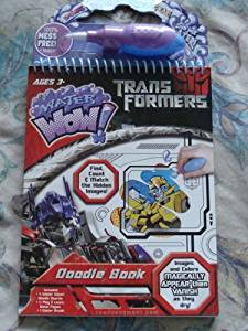 Transformers Water Wow! Doodle Book with Water Brush COVER MAY BE DIFFERENT THEN PICTURE by Giddy Up