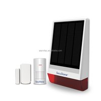 Hot sale GSM Solar Powered home security wireless alarm system