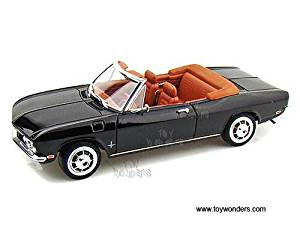 92498BK 568s93nx 191a975f67r Yatming - Chevy Corvair Monza Convertible (1969, 1/18 scale diecast model car, Black) 92498 diecast car model 1969 Chevy Corvair Monza Convertible